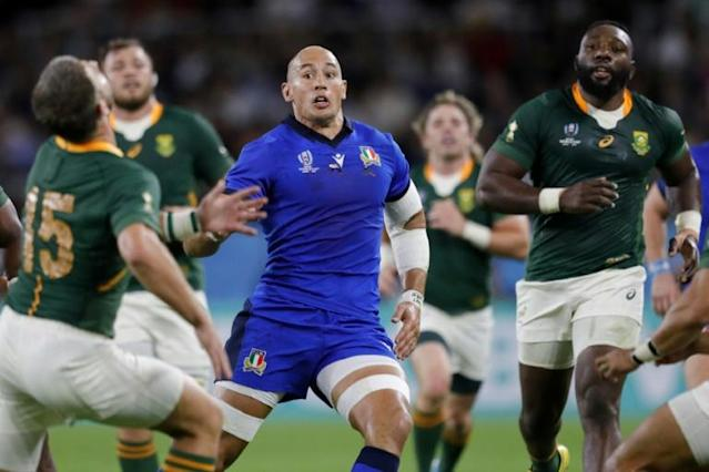 Former captain Sergio Parisse's last Italy appearance came in October's World Cup defeat by South Africa (AFP Photo/Adrian DENNIS)