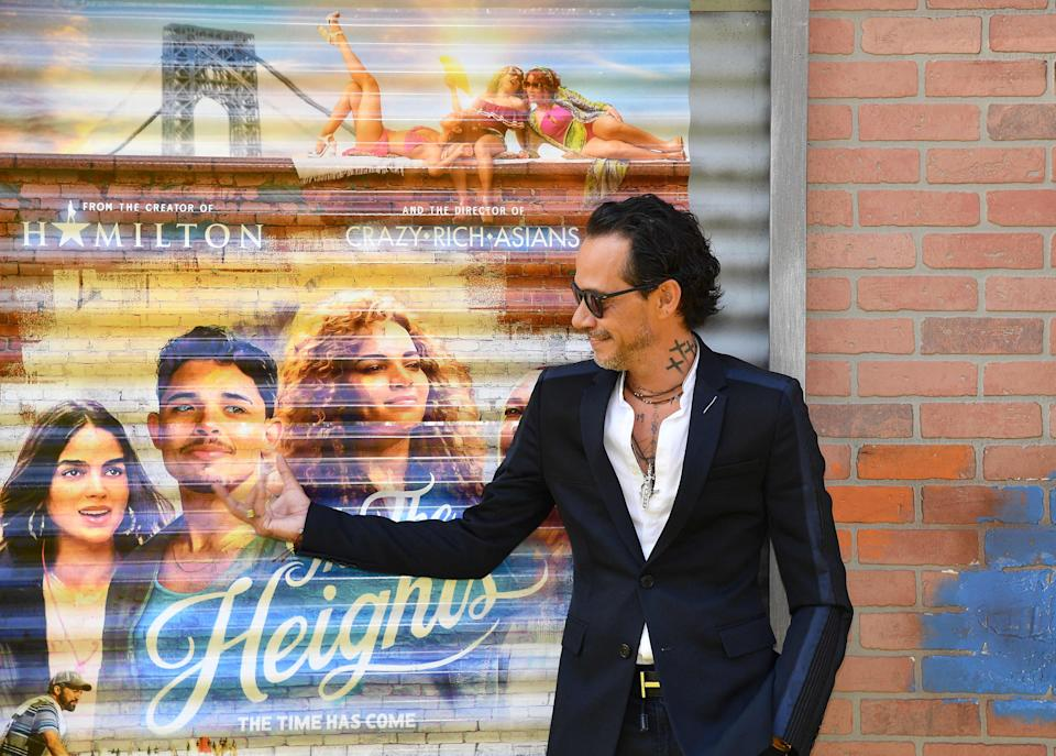"""Marc Anthony attends the opening night premiere of """"In The Heights"""" during the Tribeca Festival. Anthony has a role in the musical."""