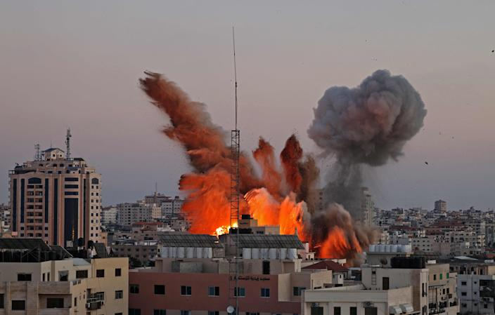 Smoke billows after an Israeli airstrike on Gaza City on Friday (AFP via Getty Images)