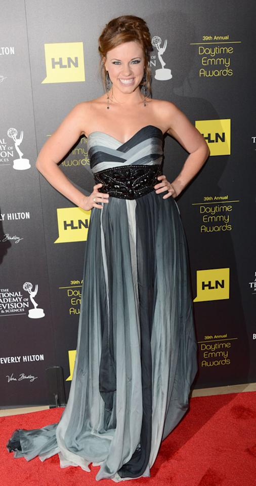 Molly Burnett arrives at The 39th Annual Daytime Emmy Awards held at The Beverly Hilton Hotel on June 23, 2012 in Beverly Hills, California.