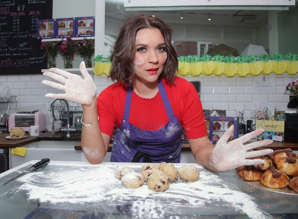 Great British Bake Off winner Candice Brown in store at Primrose Bakery in Covent Garden, London, to launch her range of 'Tot Cross Buns' celebrating NOW TV's Kids Pass.