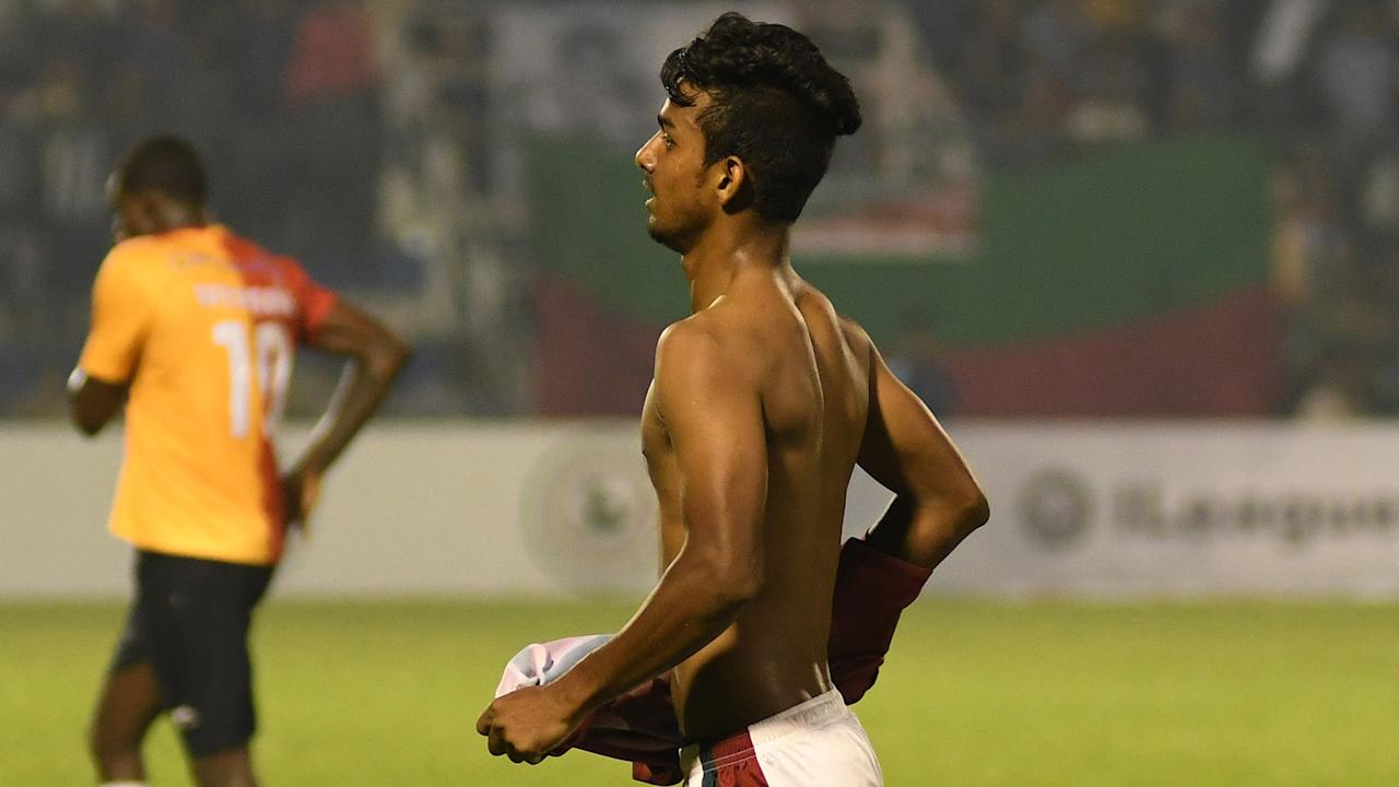 Shankarlal Chakraborty's wards produced a clinical display to keep pace with East Bengal who themselves secured three points in the opening round...