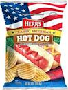 """<p>What's more American than a hot dog? No, not apple pie. How about hot dog-flavored potato chips? Yes, that's a thing. This creation from <a href=""""https://www.herrsstore.com/potatochips.html"""" rel=""""nofollow noopener"""" target=""""_blank"""" data-ylk=""""slk:Herr's"""" class=""""link rapid-noclick-resp"""">Herr's</a> celebrates the red, white, and blue with meaty flavor you don't even need a grill to get a taste of.</p>"""