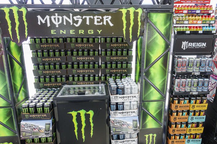Florida, Sunoco, gas station, Monster Energy drink display. (Photo by: Jeffrey Greenberg/Education Images/Universal Images Group via Getty Images)