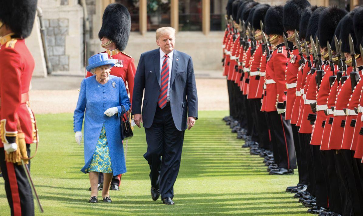 The Queen is set to host Donald Trump during his state visit next month (Getty)