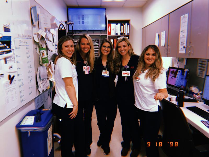 Janelle Engström Orbon, a critical care nurse, and her team at New York Presbyterian Hospital.