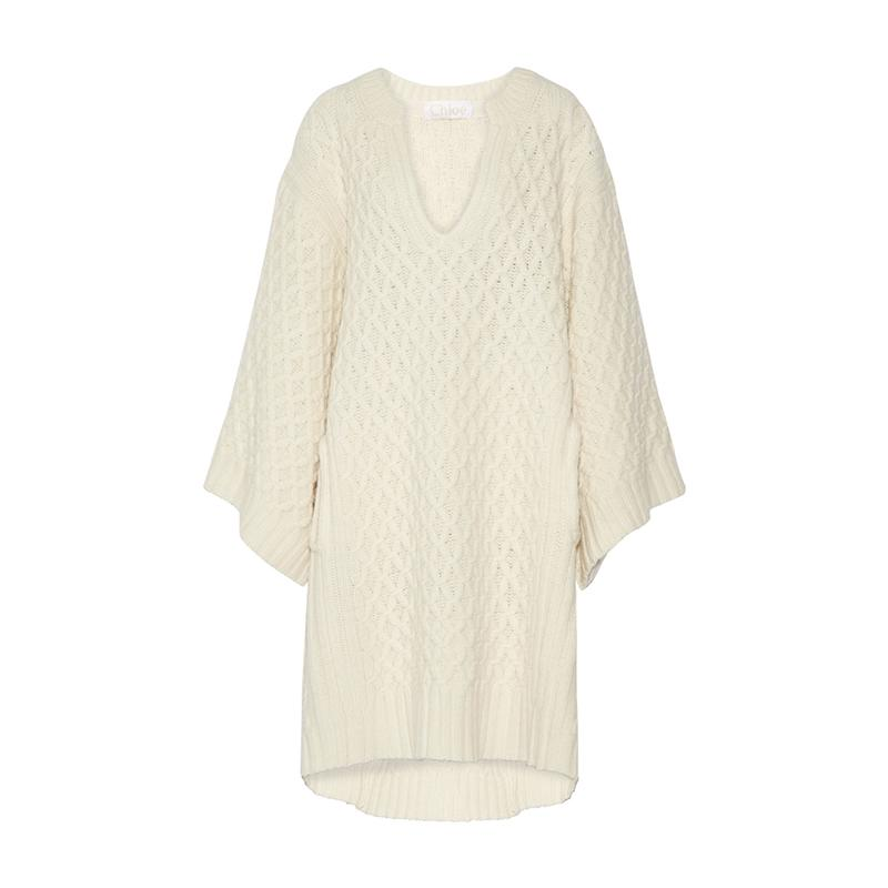"""<a rel=""""nofollow"""" href=""""http://rstyle.me/n/b6cdyvjduw"""">Oversized Cable-Knit Wool Sweater Dress, Chloe, $2195</a>"""