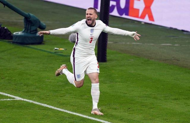 Shaw's strike against Italy at Wembley was the quickest-ever goal in a European Championship final