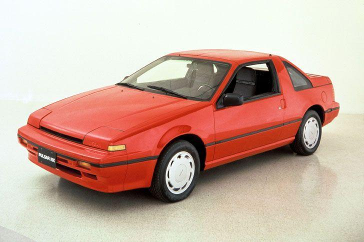 """<p>Few cars capture the oddball ingenuity budding in 1980s-era Japanese cars like the 1987 Pulsar NX, a front-wheel-drive compact car with a reconfigurable, um, butt. Sure, the pop-up headlights, slotted taillight covers, and hard-edged styling all scream """" '80s!' But wait until you get to the tail, which in standard form sports a notched hatchback. Owners could remove the standard T-top roof panels and, voilà, have a convertible hatchback. Or they could remove the hatch altogether, rendering the Pulsar NX a sort-of pickup truck. Nissan also sold as an accessory a nifty cap for the rear that turned the Pulsar into a mini shooting-brake-type thing.<em>—Alexander Stoklosa</em></p>"""
