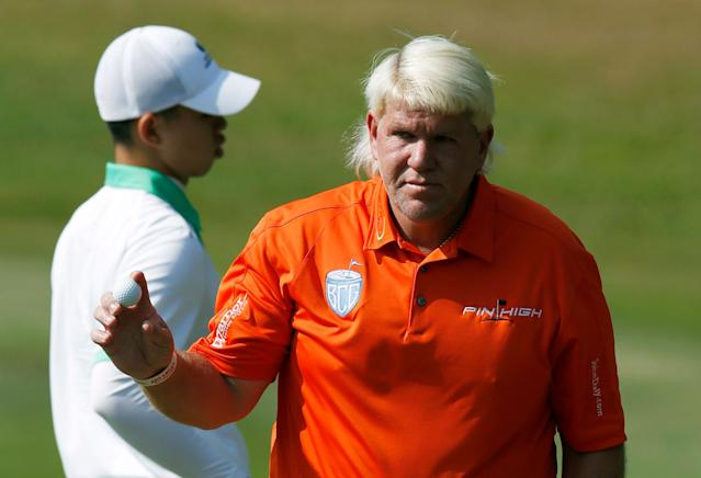 John Daly made a fan's day outside an Augusta Hooters. (AP)