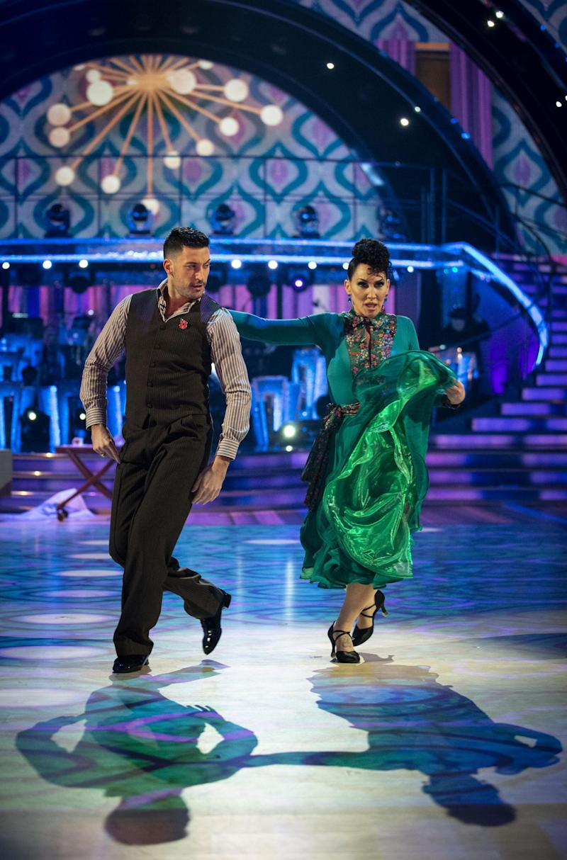 No rift here: Giovanni and Michelle dancing on Saturday night (BBC / Guy Levy)