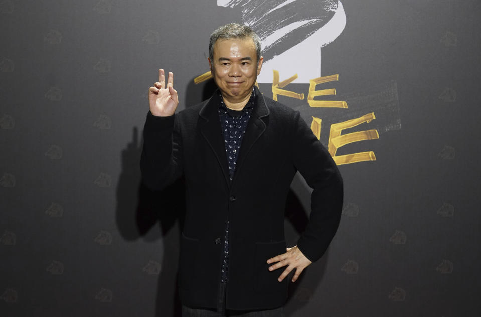 "Taiwanese director Chen Yu-hsun arrives at the 57th Golden Horse Awards in Taipei, Taiwan, Saturday, Nov. 21, 2020. Chen is nominated for Best Director for the film My Missing Valentine"" at this year's Golden Horse Awards. (AP Photo/Billy Dai)"