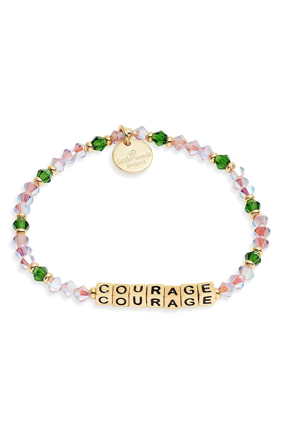 <p><span>Little Words Project Courage Beaded Stretch Bracelet</span> ($10, originally $25)</p>
