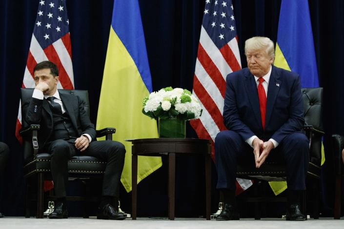President Trump meets with Ukrainian President Volodymyr Zelensky in New York City, Sept. 25, 2019. (Photo: Evan Vucci/AP)