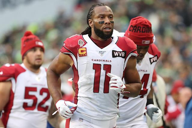 Larry Fitzgerald urged people to listen to each other in an essay published Sunday in the New York Times. (Photo by Abbie Parr/Getty Images)