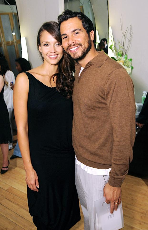 """Jessica Alba married Cash Warren on May, 19, 2008, while she was eight months pregnant with his child. The two met on the set of """"Fantastic Four"""" in 2004. Steve Granitz/<a href=""""http://www.wireimage.com"""" target=""""new"""">WireImage.com</a> - October 6, 2008"""