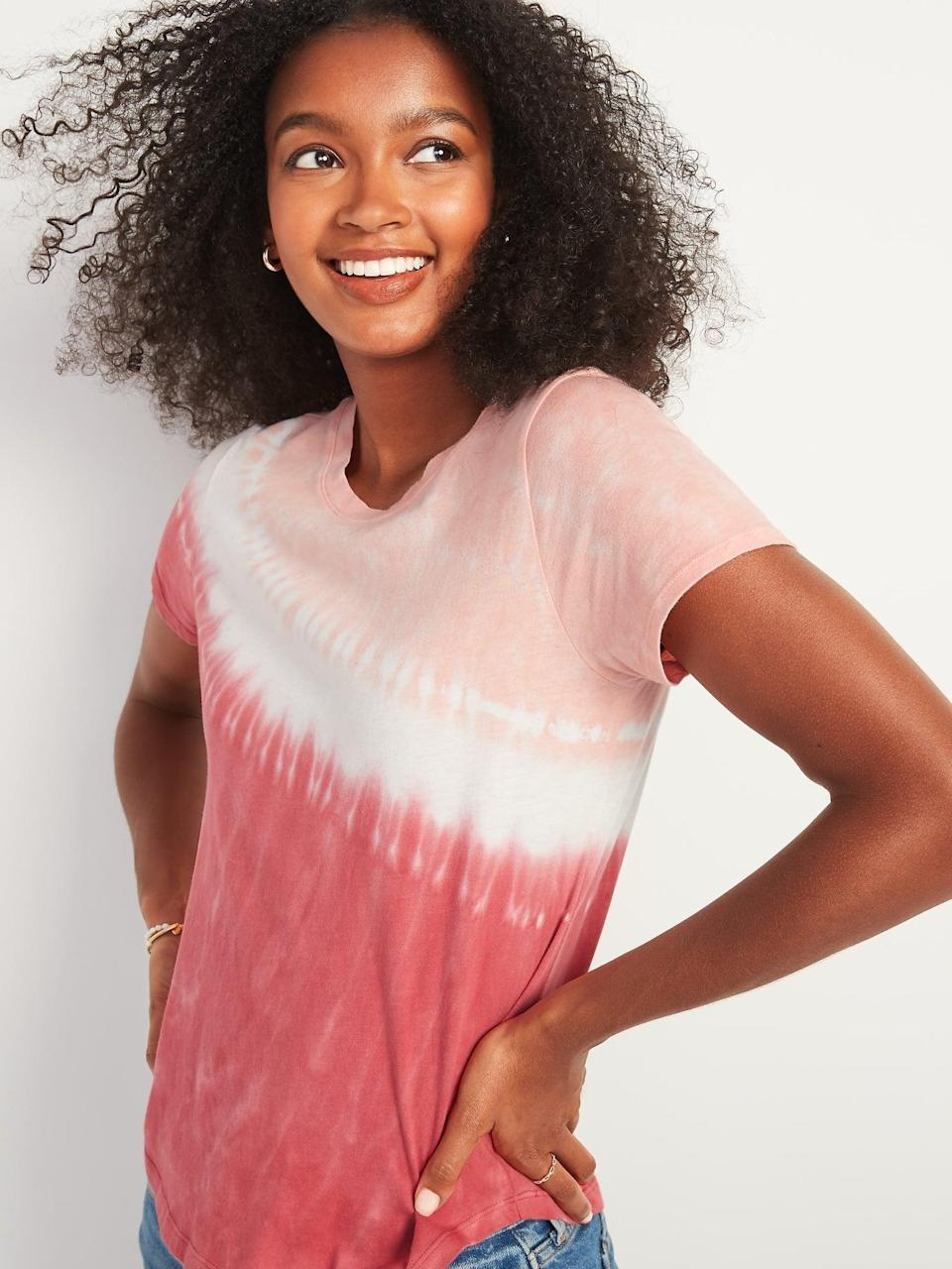 <p>Get ready to layer with this <span>EveryWear Patterned Short-Sleeve Tee</span> ($10, originally $15).</p>
