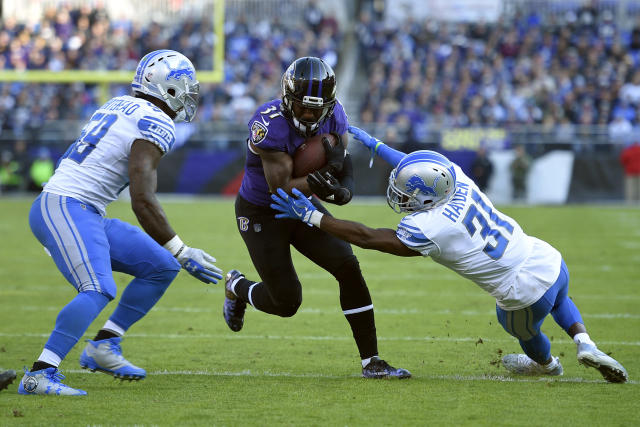The Lions was severely outmanned on defense agains the Ravens, but that was mostly their own doing. (AP Photo)