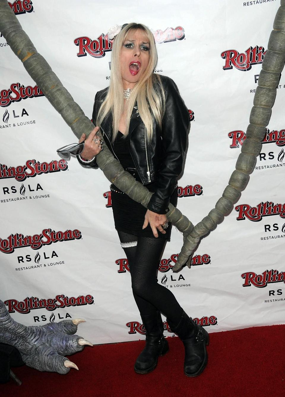 Alexis Arquette arrives for the Wrap Party For SYFY Networks' 'Monster Man' Season 2 held at Rolling Stone Restaurant And Lounge on April 16, 2012 in Los Angeles, California. (Photo by Albert L. Ortega/Getty Images)