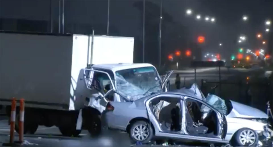 The crash happened in Melbourne's west on Thursday evening.  Source: The Today Show