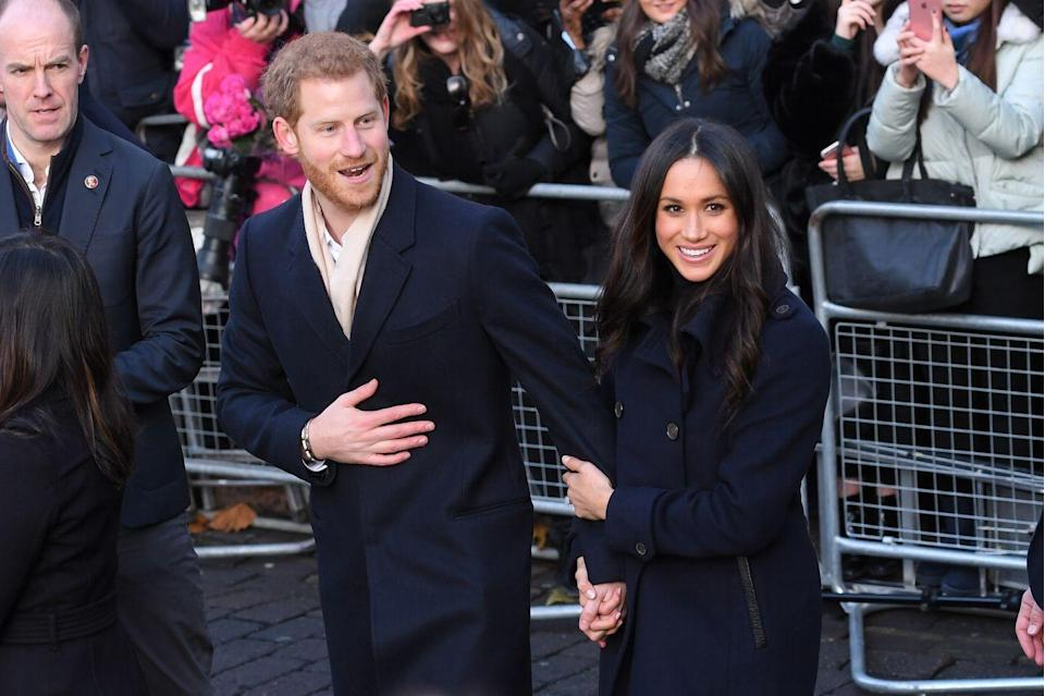 <p>For their first public outing as a newly-engaged couple, Prince Harry kept his bride-to-be close as they visited Nottingham. The former actress held her beau's hand on several occasions during the day and cemented their status as our favourite royal couple, November 2017. </p>