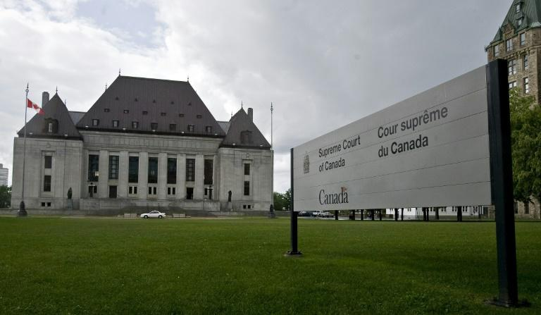 The Supreme Court of Canada, pictured in June 2008, ruled that three Eritrean refugees can sue Canadian miner Nevsun for alleged rights violations at the Bisha mine in Eritrea (AFP Photo/GEOFF ROBINS)