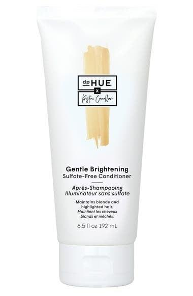 """<p>Give your blond hair the brightening boost it needs with the <span>dpHue Gentle Brightening Sulfate-Free Conditioner</span> ($26). It's created by <a class=""""link rapid-noclick-resp"""" href=""""https://www.popsugar.com/Kristin-Cavallari"""" rel=""""nofollow noopener"""" target=""""_blank"""" data-ylk=""""slk:Kristin Cavallari"""">Kristin Cavallari</a> and her hair stylist Justin Anderson.</p>"""