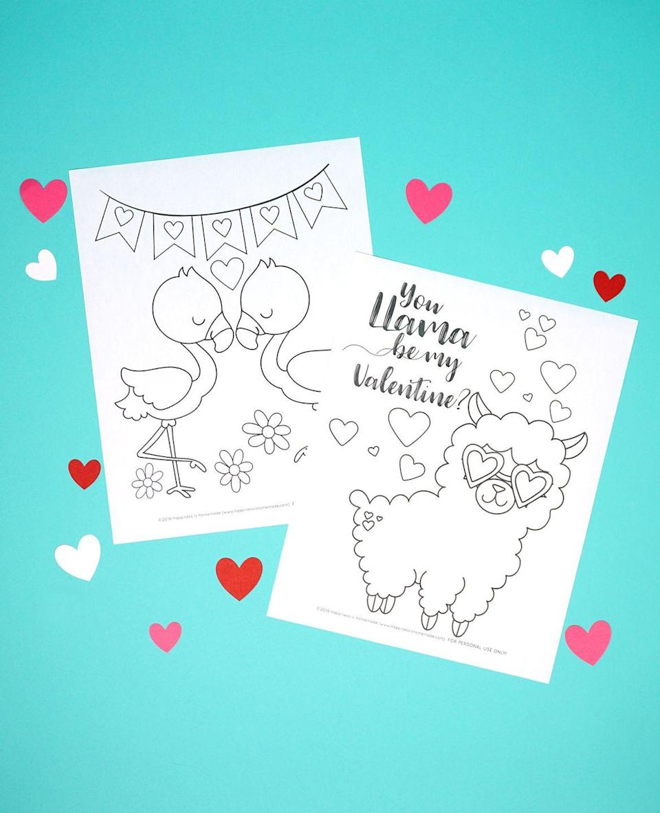 "<p>Print out these sweet coloring pages that your kids will love filling up with lots of different colors.</p><p><strong>Get the tutorial at <a href=""https://www.happinessishomemade.net/printable-valentine-coloring-pages/"" rel=""nofollow noopener"" target=""_blank"" data-ylk=""slk:Happiness Is Homemade"" class=""link rapid-noclick-resp"">Happiness Is Homemade</a>.</strong></p><p><strong><a class=""link rapid-noclick-resp"" href=""https://www.amazon.com/Crayola-Ultra-Clean-Crayons-Multicolor/dp/B07KY2HBCM/?tag=syn-yahoo-20&ascsubtag=%5Bartid%7C10050.g.1584%5Bsrc%7Cyahoo-us"" rel=""nofollow noopener"" target=""_blank"" data-ylk=""slk:SHOP CRAYONS"">SHOP CRAYONS</a><br></strong></p>"