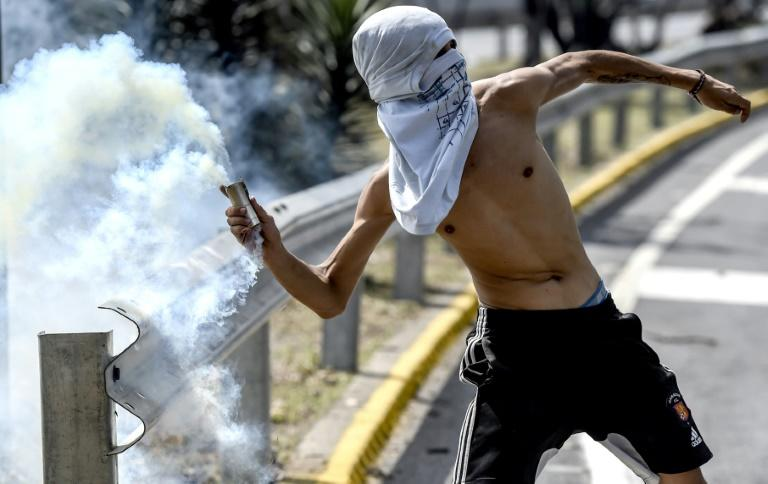 """Venezuelan President Nicolas Maduro claimed clashes between opposition activist and police were aimed at fostering violence, but """"peace triumphed in Caracas"""""""