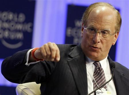 Chairman and Chief Executive of BlackRock Fink speaks during a session at the World Economic Forum (WEF) in Davos