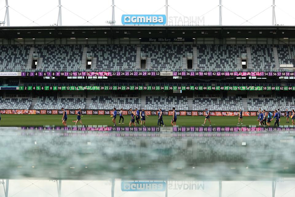 A general view during a Geelong Cats AFL training session at GMHBA Stadium on June 16, 2021 in Geelong, Australia. (Photo by Robert Cianflone/Getty Images)