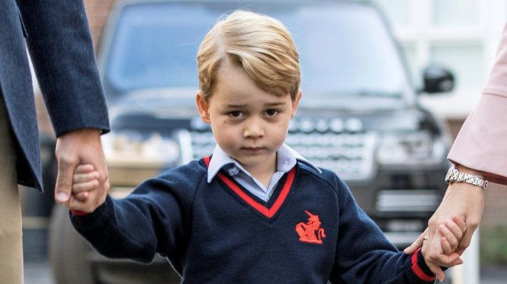 Prince Georgejust learned that there are no baaaaa-d roles in nativity plays.