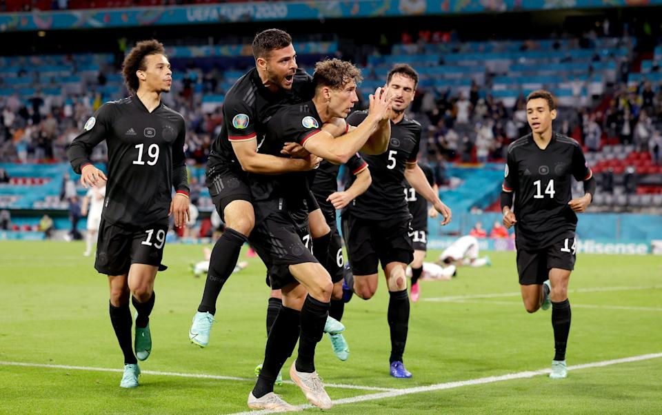 Leon Goretzka rescues Germany with dramatic late equaliser to set up last-16 clash with England - GETTY IMAGES