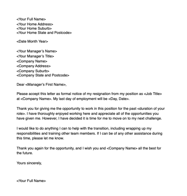 Resignation Letter Due To Lack Of Growth Opportunity from s.yimg.com
