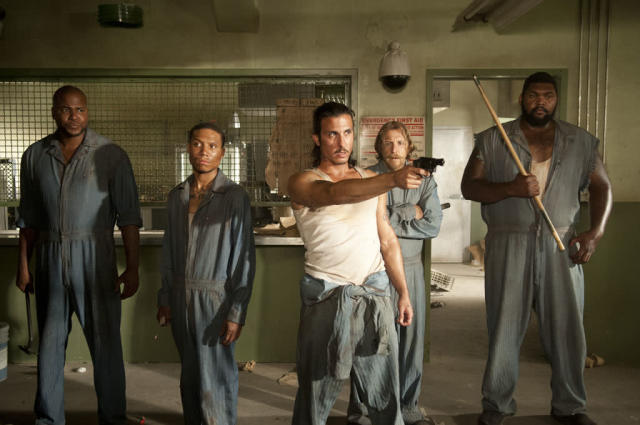 "Oscar (Vincent Ward), Andrew (Markice Moore), Tomas (Nick Gomez), Axel (Lew Temple) and Big Tiny (Theodus Crane) in ""The Walking Dead"" episode, ""Sick."""