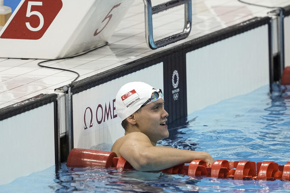 Singapore swimmer Joseph Schooling after his men's 100m freestyle heats. (PHOTO: SNOC/Kong Chong Yew)
