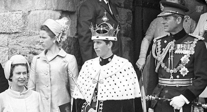 The Investiture of the Prince of Wales at Caernarfon Castle, by his mother, Queen Elizabeth II.