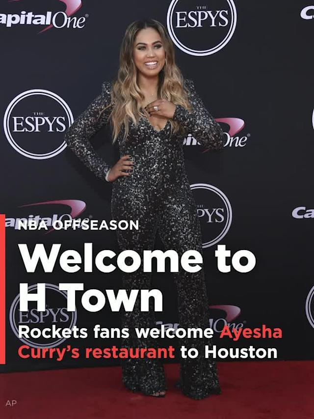 Ayesha Curry, the entrepreneurial wife of Golden State Warriors superstar Stephen Curry, is expanding her barbecue restaurant business to Houston, and let's just say Rockets fans aren't licking their chops.
