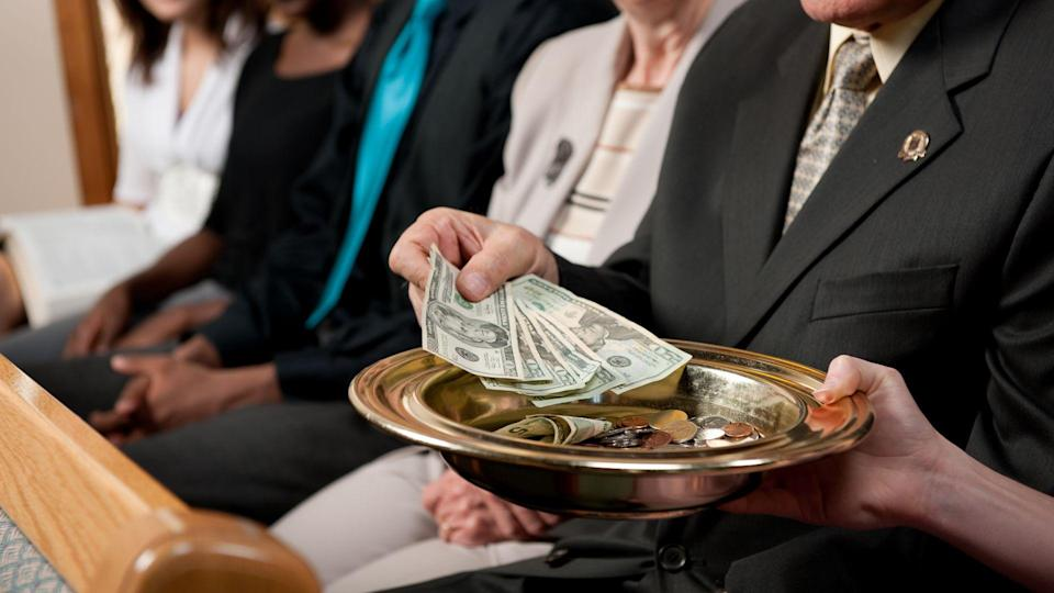 A diverse church congregation worshipping together - Buy credits.