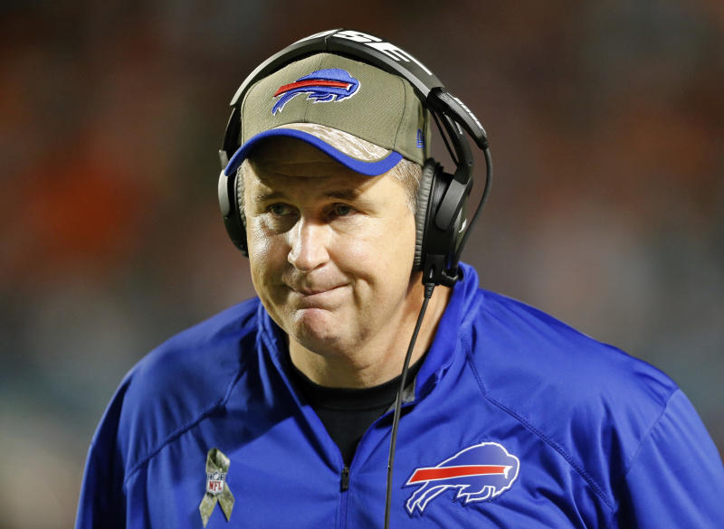 Doug Marrone lasted two seasons in Buffalo, where he went 15-17. (Getty Images)