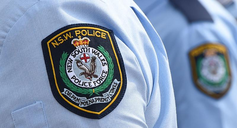 A stock image of New South Wales Police badges in Sydney.