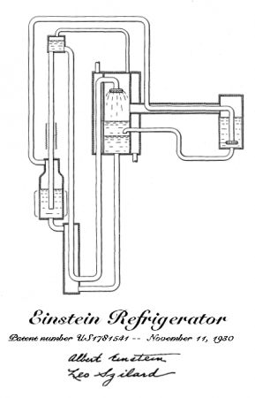 Einstein's and Szilárd's patent application.