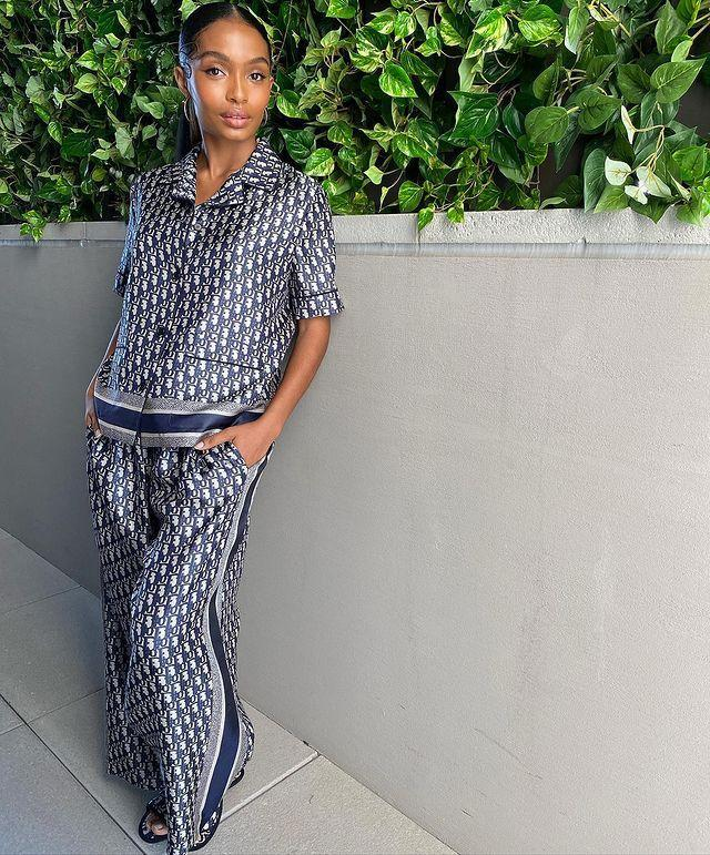 """<p>The beauty of a virtual red carpet is that stars are able to push the envelope a little more in terms of what they wear. For some, this means going seriously extravagant with their look – and for others, more casual. This was the case for Yara Shahidi who looked impossibly chic in a slinky pyjama-inspired set by Dior.</p><p><a href=""""https://www.instagram.com/p/CM8VCzihafm/?utm_source=ig_embed&utm_campaign=loading"""" rel=""""nofollow noopener"""" target=""""_blank"""" data-ylk=""""slk:See the original post on Instagram"""" class=""""link rapid-noclick-resp"""">See the original post on Instagram</a></p>"""
