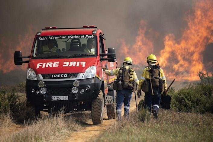 South Africa Cape town university wildfire
