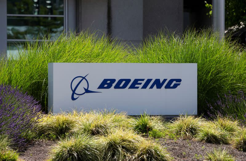 FILE PHOTO: Signage of The Boeing Company in Seattle