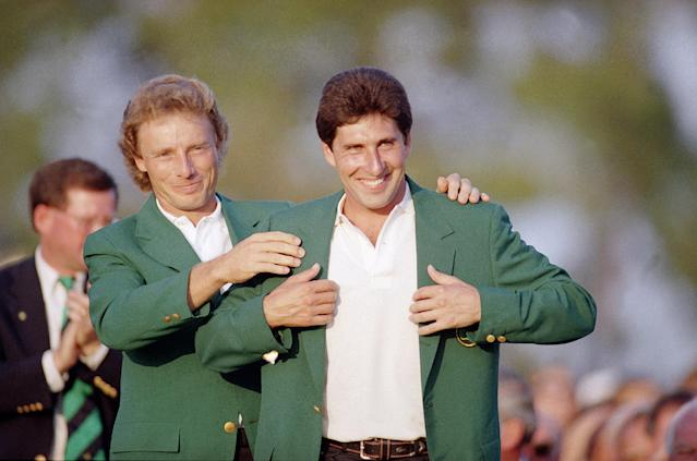 José María Olazábal won the Masters in 1994 and 1999. (AP)