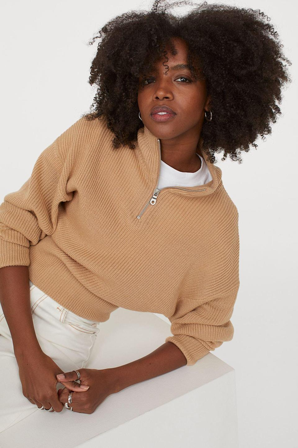 <p>You'll reach for this <span>Half-Zip Sweater</span> ($25) any day.</p>