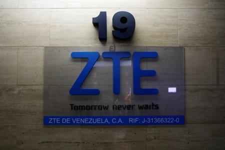 FILE PHOTO: China's ZTE Corp logo is seen at its offices in Caracas