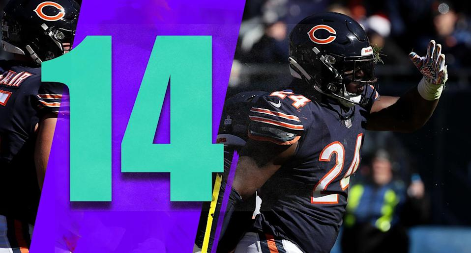 <p>Two special-teams breakdowns killed the Bears in Sunday's loss to the Patriots. The defense has had two bad games, but there's a lot of talent on that side and they'll rebound. Don't bury these guys yet. (Jordan Howard) </p>