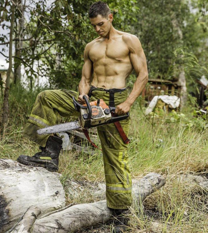 Will Sam grace the 2018 Fireman's Calendar? Photo: